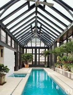 The Architecture Designs brings all indoor swimming pool design at one place. Check them now. Amazing Swimming Pools, Swimming Pool Landscaping, Swiming Pool, Indoor Swimming Pools, Swimming Pool Designs, Lap Swimming, Lap Pools, Backyard Pools, Pool Decks