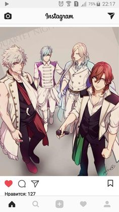 With stage outfits Black Butler Kuroshitsuji, Uta No Prince Sama, Nanami, Cute Anime Guys, Anime Artwork, Anime Style, Vocaloid, Draw, Manga