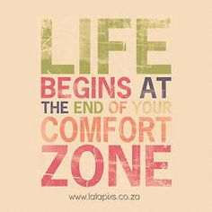 out off comfort zone