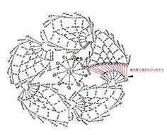 梅のドイリー(編み図付き、うめ、ウメ) : Crochet a little