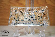 Fused Glass Trinket/Soap dish by AMGlassStudio on Etsy