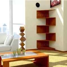Modular - Rack Esquinero Moderno- Diseño Minimalista. Unico! (madera)