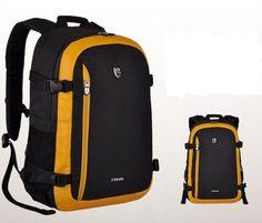 Yellow-DSLR-SLR-Camera-Backpack-Rucksack-Travel-Bag-Case-For-Nikon-Canon-Sony Camera Backpack, Rucksack Backpack, Slr Camera, Nice Tops, Travel Bag, Nikon, Sony, Backpacks, Bags
