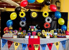 Transformers Birthday Party Dessert Table