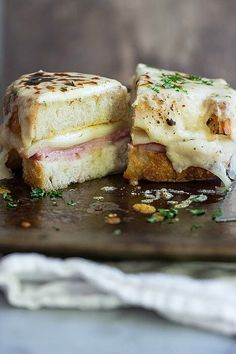 The ultimate Croque Monsieur Grilled Cheese sandwich! Melted slices of Belgioioso Provolone and smoked ham smothered in a creamy Parmesan…