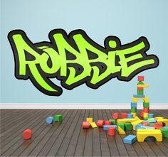 Personalised-Graffiti-Name-Wall-Sticker-Mural-Art-Boys-Girls-Bedroom-Full-Colour