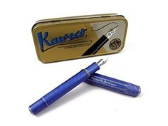 Kaweco AL Sport Fountain Pen Blue Stone Washed B Bold by Kaweco -- Click on the image for additional details. (This is an affiliate link)