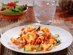 ... Campanelle with Creamy Barilla® Traditional Sauce, Bacon, & Zucchini