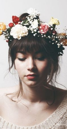 how to do a flower crown