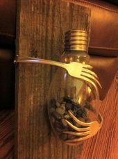 Fork & Light Bulb Vase (Inspiration Only, No Pattern or Instruction)