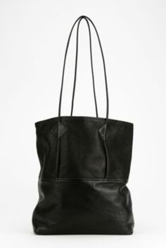 Urban Outfitters Black Leather Tote.