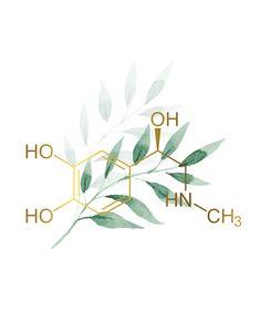 Serotonin Tattoo, Chemistry Art, Molecule Tattoo, Biology Art, Science Tattoos, Chemical Structure, Science Illustration, Instagram Background, Medical Art