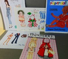 """.99 cent___PAPER__DOLL__ LOT__ OUTFIT__PATTERN__UNCUT__ VINTAGE__CIRCLE KID PLAY HOME ART ___ Hi there...... 4 vintage Paper Doll Circle magazines of 1998 that have uncut cutouts of Elvis Preseley, Spice Girls, patterns, etc.  3 are Paperdoll Circle, one is Paper Doll Review...they measure 8-1/4"""" x 11-3/4"""
