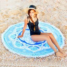 Round Beach Towel, Terry Round Towel With Tassels, Bachelorette Gift Ideas, Bohemian Beach Wedding, Terry Beachsheet Bohemian Wedding Gifts, Beach Wedding Gifts, Beach Party, Maid Of Honour Gifts, Maid Of Honor, Bachelorette Gifts, Picnic In The Park, Terry Towel, Beach Blanket
