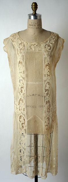 Afternoon dress House of Paquin Date: 1923–24 Culture: French Medium: cotton Accession Number: 1986.516.6