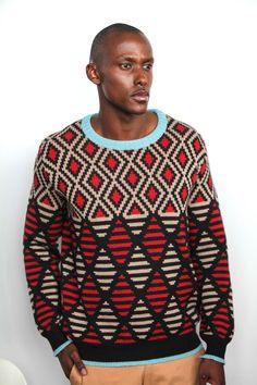 Maxhosa by Laduma. #African #fashion #knitwear #pattern #SouthAfrica HT Stuurman Style Diary