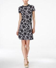 MICHAEL Michael Kors Petite Printed Sweater Dress
