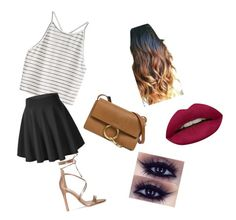 """""""Girls night out"""" by favouro on Polyvore featuring Chloé and Huda Beauty"""