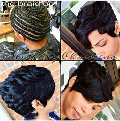 Short sew in! Short Weave Hairstyles, Pretty Hairstyles, Girl Hairstyles, 27 Piece Hairstyles, Curly Hair Styles, Natural Hair Styles, Sassy Hair, Hair Affair, Hair Journey