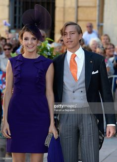 Princess Tessy Of Luxembourg and Prince Louis Of Luxembourg attend the Religious Wedding Of Prince Felix Of Luxembourg and Claire Lademacher at the Basilique Sainte Marie-Madeleine on September 21, 2013 in Saint-Maximin-La-Sainte-Baume, France.  (Photo by Pascal Le Segretain/Getty Images)