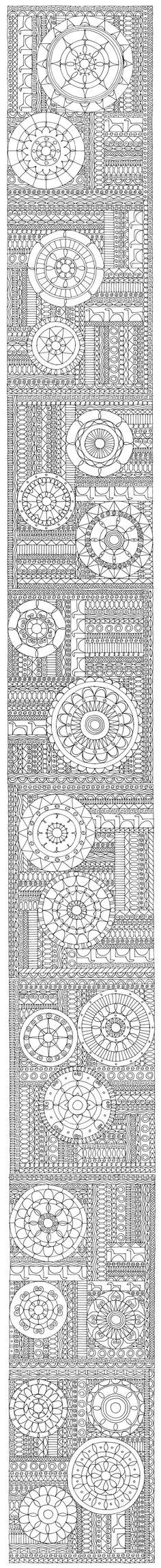 "Doodle Art Scroll from Miriam Badyrka ""The Doodler"""