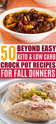 These easy keto crock pot recipes make the BEST low carb fall dinners!!! Love these keto slow cooker recipes for my keto diet!! Even crockpot soups too!