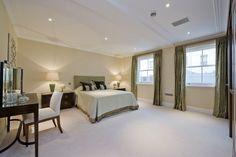 Master Bedroom - we love the floor space and elegance of the room Floor Space, Bedtime, Bespoke, Master Bedroom, Construction, Flooring, London, Interior Design, Elegant