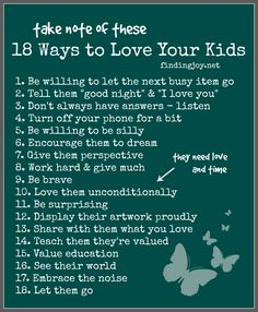 How to Love your kids