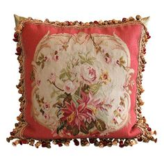 Aubusson Pillow | From a unique collection of antique and modern pillows and throws at http://www.1stdibs.com/furniture/more-furniture-collectibles/pillows-throws/