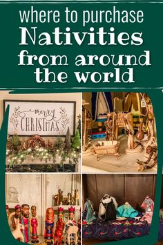 Enjoy Christmas while celebrating the real meaning of Christmas. Nativities from Africa, nativity from the middle east, nativity from peru, nativity from South America.