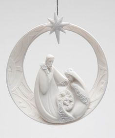 The Holiday Aisle Holy Family Ornament Family Christmas Ornaments, Nativity Ornaments, Star Ornament, Hanging Ornaments, Ball Ornaments, Family Ornament, Nativity Scenes, Christmas Nativity, White Christmas