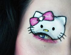Hello Kitty Eye...i would never actually do this but it's so cute!!!!