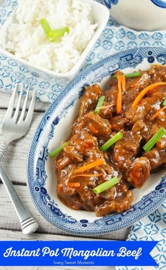 Another great beef recipe is this melt in your mouth Mongolian Beef in the Instant Pot from Living Sweet Moments and a great way to use up your leftover beef.