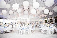 Combinatie pakket LARGE - wit   Lampionnen Lampion Paperlanterns Huwelijks decoratie Bruiloft ideeën  Wedding Ideas Feest aankleding Event decoratie Weddinginspiration