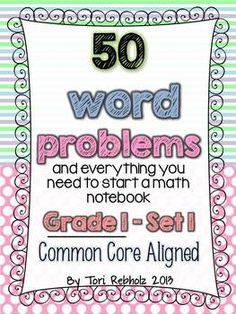 Word Problems GRADE 1~ Set 1 {Common Core Aligned}
