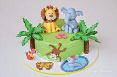 Jennys Backwelt: Die Tiere sind los - Eine Zoo Torte zur Konfirmation