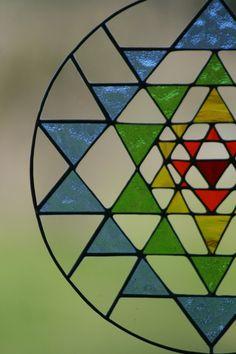 Sri Yantra Meditation suncatcher stained glass by Mownart Flower Mandala, Mandala Art, Sri Yantra Meaning, Triangles, Sanskrit, Alex Gray Art, Alex Grey, Sacred Geometry Tattoo, Mother Goddess
