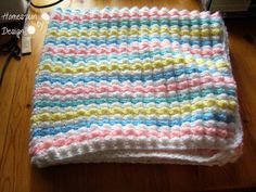 Baby Bubbles Crochet Afghan by HomespunByDesign on Etsy, $25.00