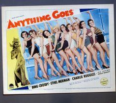 Anything Goes 1936 Bing Crosby Ethel Merman Cole Porter Music Lobby Card J022 | eBay