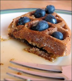 Oatmeal Waffles with Date Syrup
