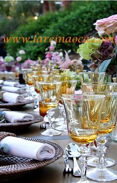 Vajilla y cristalería bodas vintage