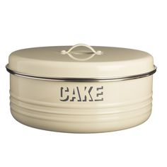 Shop for Typhoon Vintage Cream Cake Tin. Create a stylish, retro kitchen decor with this Vintage Cream Cake Tin. Retro Kitchen Decor, Kitchen Dining, Cream Kitchen Accessories, Cake Storage, Kitchen Collection, Cake Tins, Food Storage Containers, Metal Tins, Jars