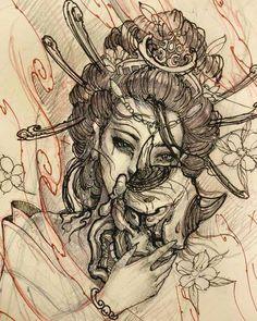 50 Amazing Geisha Tattoos Designs and Ideas For Men And Wome.- 50 Amazing Geisha Tattoos Designs and Ideas For Men And Women Best Geisha tattoos - Asian Tattoos, Maori Tattoos, Trendy Tattoos, Body Art Tattoos, New Tattoos, Sleeve Tattoos, Phoenix Tattoos, Irezumi Tattoos, Tattos