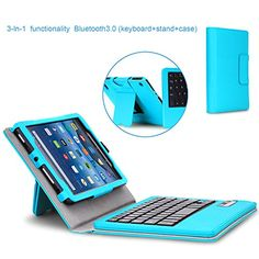 Amazon.com: Fire 7 2015 Keyboard Case - MoKo Wireless Bluetooth Keyboard Cover Case for Amazon Kindle Fire 7 inch Display Tablet (5th Generation - 2015 Release Only), Light BLUE: Electronics