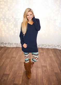 Super Soft Tunic Hoodie Navy CLEARANCE