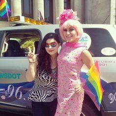 We loved this Go-Go goddess!  #olypride #love #pride #community #peace #rainbow #diva #beauty #olywa #localradio #mymixx96 #seattlepride