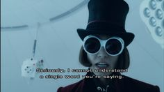 Charlie and the Chocolate Factory Tv Quotes, Movie Quotes, Memes Without Words, Johnny Depp Willy Wonka, John Deep, Johnny And Winona, Wonka Factory, Charlie Chocolate Factory, Hollywood Scenes