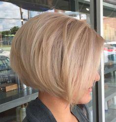 Modern Bob Hairstyles, Blonde Bob Hairstyles, Bob Hairstyles For Thick, Short Bob Haircuts, Hairstyles Haircuts, Graduated Bob Hairstyles, Haircut Bob, Layered Haircuts, Medium Hairstyles