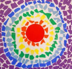 Rainbow Mosaics! I love this art teacher's blog! Absolutely gorgeous!