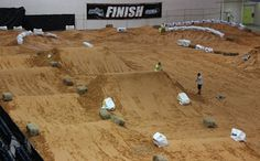 Dirt bike track part of my dream house you can also drive fourweelers on it.